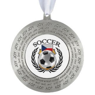チェコスロバキア共和国のサッカー2016ファンのギア オーナメント