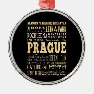 チェコスロバキア共和国のタイポグラフィの芸術のプラハ都市 メタルオーナメント
