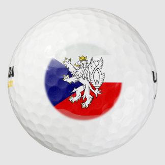 チェコスロバキア共和国の光沢のある旗 ゴルフボール