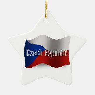 チェコスロバキア共和国の振る旗 セラミックオーナメント
