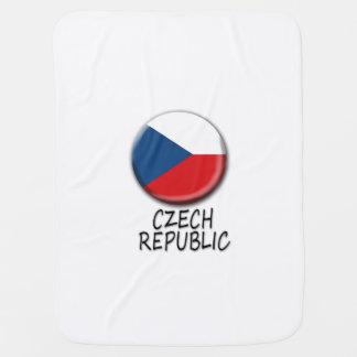 チェコスロバキア共和国の旗のベビーブランケット ベビー ブランケット