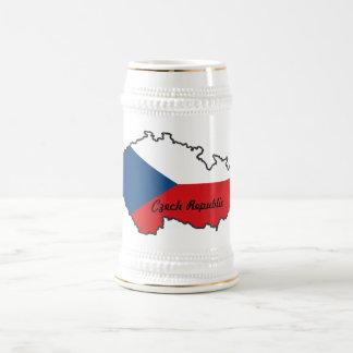 チェコスロバキア共和国の旗の地図のマグ ビールジョッキ