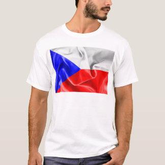 チェコスロバキア共和国の旗のTシャツ Tシャツ