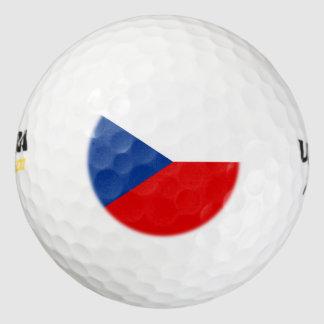 チェコスロバキア共和国の旗 ゴルフボール