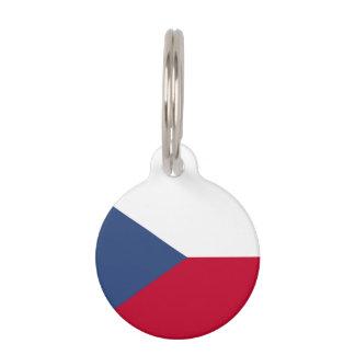 チェコスロバキア共和国の旗 ペット ネームタグ