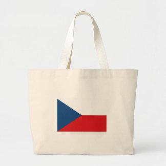 チェコスロバキア共和国の旗 ラージトートバッグ