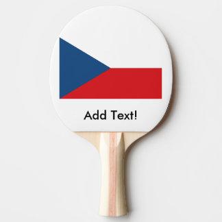 チェコスロバキア共和国の旗 卓球ラケット