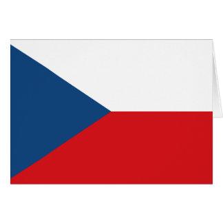 チェコスロバキア共和国の旗- Českáのvlajka カード
