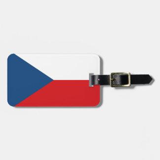 チェコスロバキア共和国の旗- Českáのvlajka ラゲッジタグ