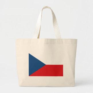 チェコスロバキア共和国の旗- Českáのvlajka ラージトートバッグ