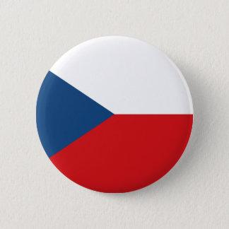 チェコスロバキア共和国の旗- Českáのvlajka 5.7cm 丸型バッジ