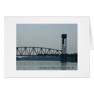 チェサピークおよびデラウェア州運河の上昇橋、DE. カード