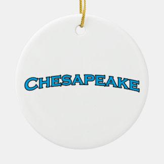 チェサピークのヴァージニアによってアーチ形にされる文字のロゴ セラミックオーナメント