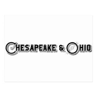 チェサピーク及びオハイオ州の鉄道ロゴca.1897 ポストカード