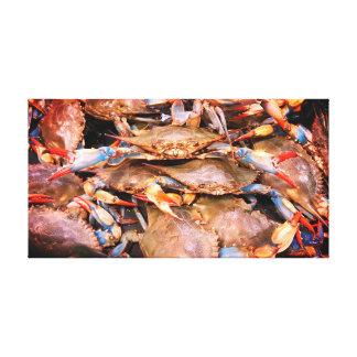 チェサピーク湾の青カニのキャンバスの芸術 キャンバスプリント