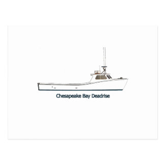 チェサピーク湾のDeadriseのボート(タイトルを付けられる) ポストカード