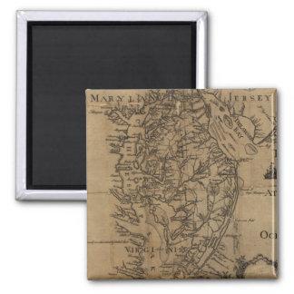 チェサピーク湾(1778年)のヴィンテージの地図 マグネット