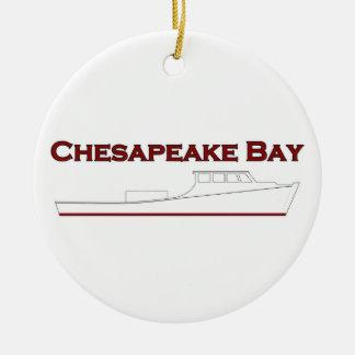 チェサピーク湾Deadrise Workboat セラミックオーナメント