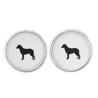 チェサピーク・ベイ・レトリーバーのシルエット愛犬 カフボタン