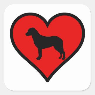 チェサピーク・ベイ・レトリーバーのハート愛犬 スクエアシール
