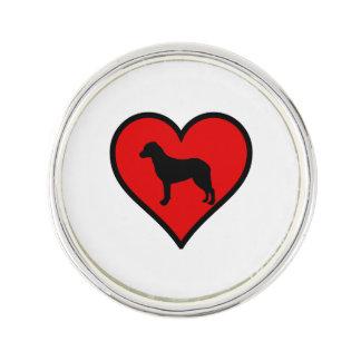 チェサピーク・ベイ・レトリーバーのハート愛犬 ラペルピン
