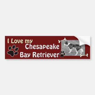 チェサピーク・ベイ・レトリーバーのバンパーステッカー バンパーステッカー