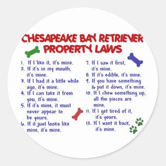 チェサピーク・ベイ・レトリーバーの特性の法律2 ラウンドシール