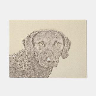 チェサピーク・ベイ・レトリーバーの絵画元の犬の芸術 ドアマット