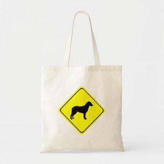 チェサピーク・ベイ・レトリーバーの警告標識愛犬 トートバッグ
