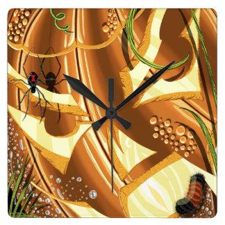 チェシャーのカボチャ時計 スクエア壁時計