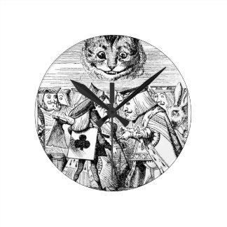 チェシャーの猫および皇族 ラウンド壁時計