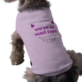 チェシャー猫の小犬のワイシャツ ペット服