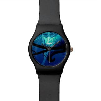 チェシャー猫の腕時計-青 リストウォッチ