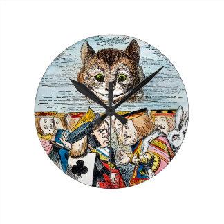 チェシャー猫1865年 ラウンド壁時計