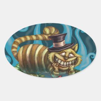 チェシャー猫 楕円形シール