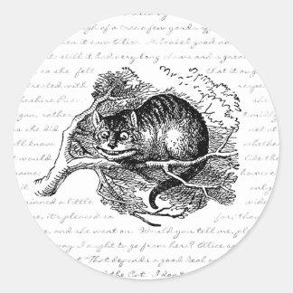 チェシャー猫-私達はここにすべての不機嫌います ラウンドシール
