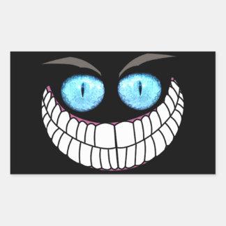 チェシャー猫-青い目のステッカー 長方形シール