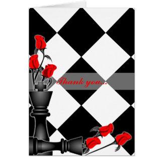 チェスおよびバラのゴシック様式結婚式 カード