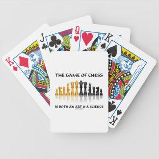 チェスのゲームは芸術及び科学両方です バイスクルトランプ