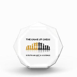 チェスのゲームは芸術及び科学両方です 表彰盾