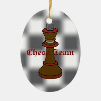 チェスのチームまたはチェスクラブのオーナメント セラミックオーナメント