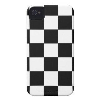 チェスのテーブルの白黒正方形の箱 Case-Mate iPhone 4 ケース