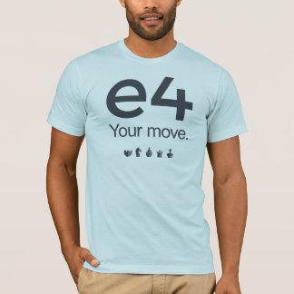 チェスのワイシャツ: e4 tシャツ