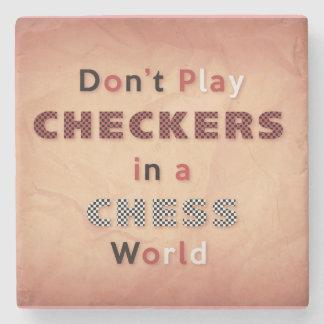チェスの世界のコースターのチェッカーを演じないで下さい ストーンコースター
