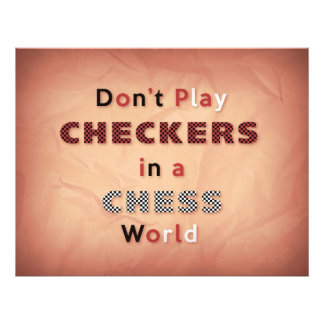 チェスの世界の写真の紙のチェッカーを演じないで下さい フォトプリント