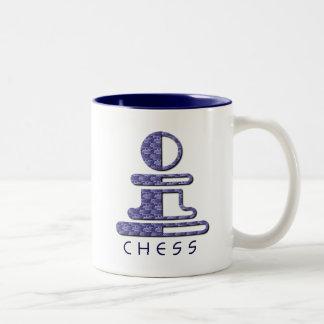チェスの担保のデザインのマグ ツートーンマグカップ