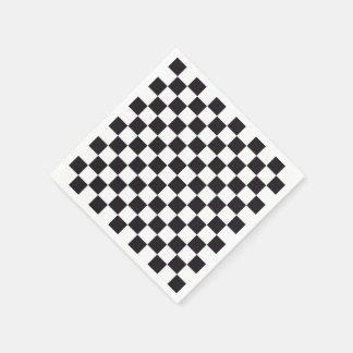 チェスの正方形パターン-黒 + あなたの背景 スタンダードカクテルナプキン