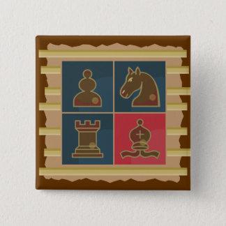 チェスの正方形 5.1CM 正方形バッジ