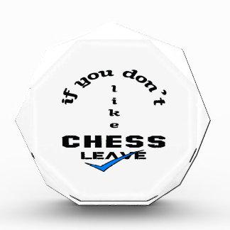 チェスの許可を好まなければ 表彰盾