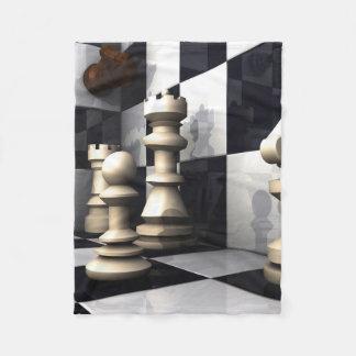 チェスの試合のスタイル フリースブランケット